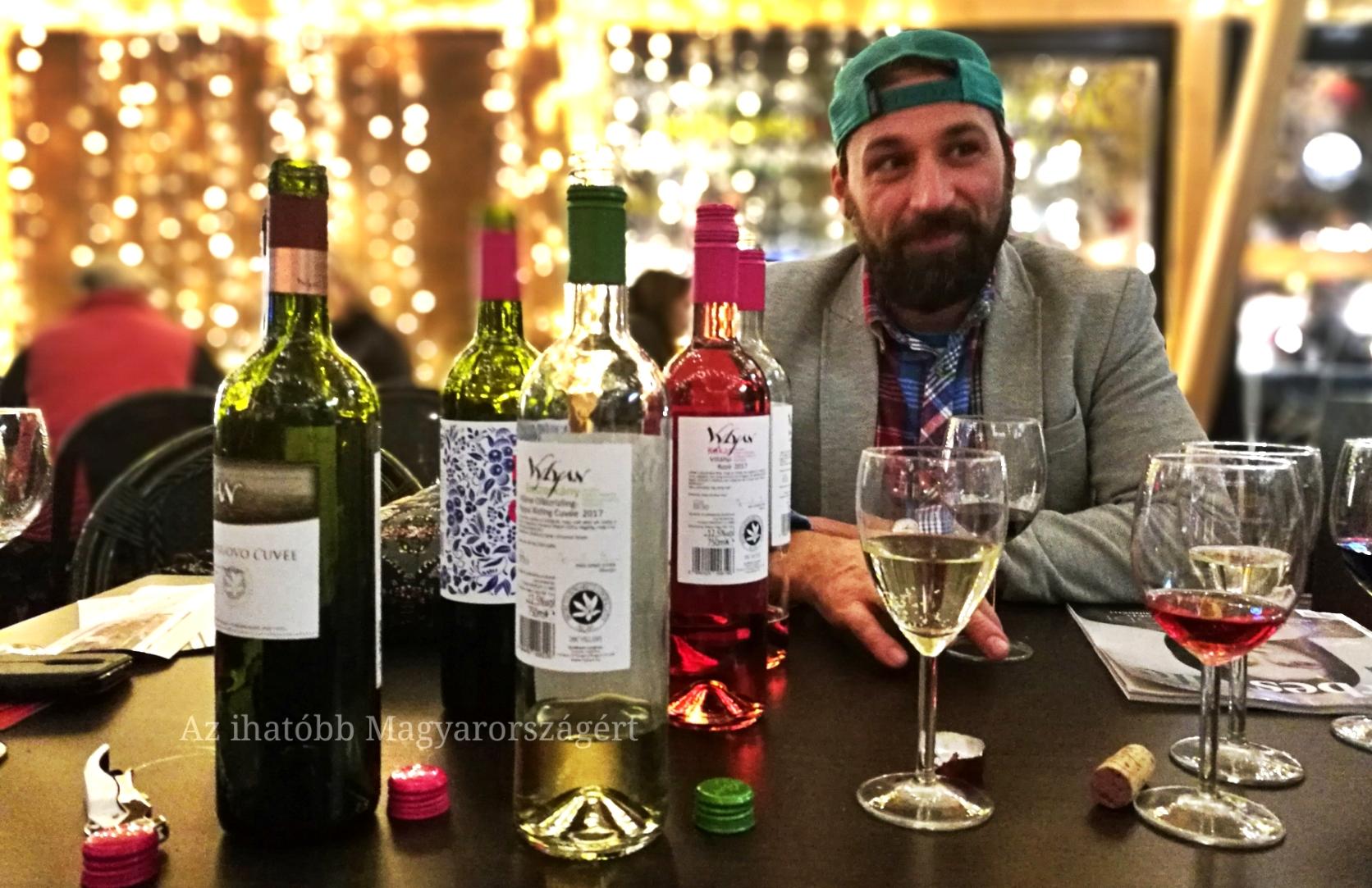 Czinege Tamás a borok mellett...