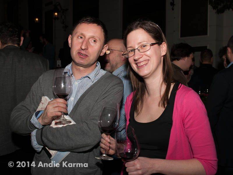 Rob Smyth, újságíró és Tóth Adrienn, a Wineglass Communication vezetője, az esemény főszervezője