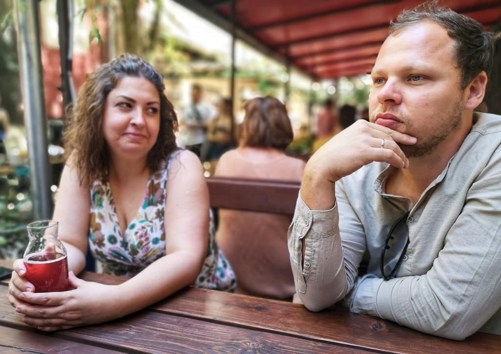 Rattner Réka, a piac menedzsere és Vajas Balázs a piac alapítója